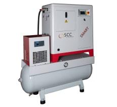 Schraubenkompressoren für die Drucklufterzeugung für hydraulisch betriebene 2K-Dosieranlagen für die Verarbeitung von Polyurea und PU-Schaum.